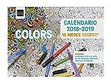Finocam 16 meses - Calendario pared 16 meses 2018-2019 español, 308 x 225 mm, colors