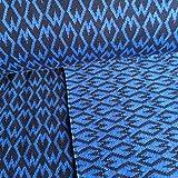 Hamburger Liebe Square Heart Biojersey Jacquard-Jersey Bio-Stoff Baumwolle kba GOTs (Blau)