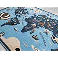 BuyElegant® Modern Art Theme Anti-slip Area Carpets/Rugs made with 100% Polyester and Latex Eco-friendly backing washable