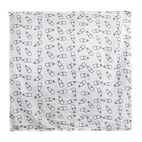 Baby Hygroskopische Babydecke, Neugeborenen Schlafdecke aus Baumwolle, Kinder Kleinkinder Wickeldecke Weiche Einschlagdecke Säugling , 120*120CM