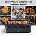 Aobosi Rauchfreier Holzkohlegrill mit Aktivbelüftung Ventilator System, Wärmeisoliertes Doppelwandgehäuse, Tragetasche, Edelstahl Tragbarer Grill