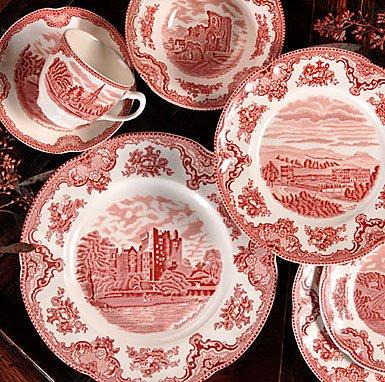 Johnson Bros. Old Britain Castles Pink Saucers Only by Johnson Brothers (Castles Old Britain)