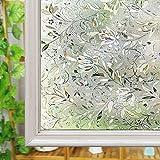 Fenster satinierte Folie, Glas Sichtschutz Folie, wiederverwendbar UV Statische Folie für Fenster Glas Home, Vinyl, 60cm*200cm