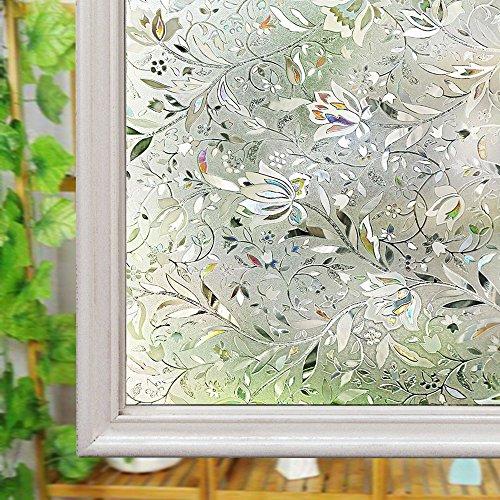 Fenster satinierte Folie, Glas Sichtschutz Folie, wiederverwendbar UV Statische Folie für Fenster Glas Home, 90 x 200 cm