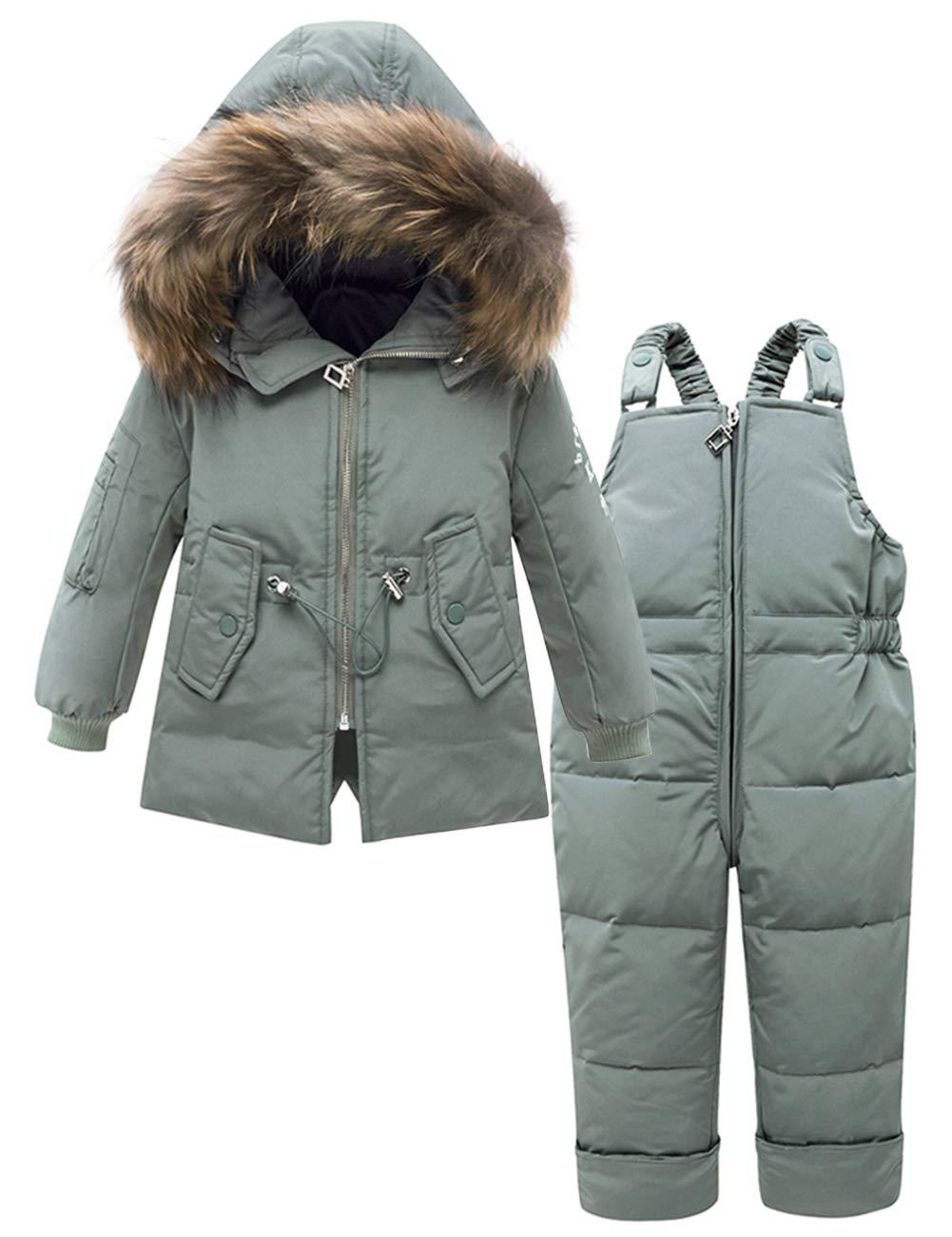 ZOEREA Bebé Niña Chaqueta de Esquí Invierno Conjuntos de Ropa Niñas Traje de Nieve Plumón Abrigo con Capucha y… 1