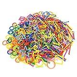 800 Pz/Set Geometria di Plastica Giocattolo Mattone Giocattolo per Bambini Apprendimento Intelligente Giocattolo Primi Educativi Accatastamento Mattoni Set di Giochi