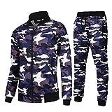 AIRAVATA Herren Mode Fleece Sport Jogging Trainingsanzug Top & Bottoms Set