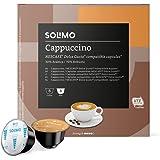Marca Amazon - Solimo Dolce Gusto Cappuccino, 96 cápsulas (6 x 16)