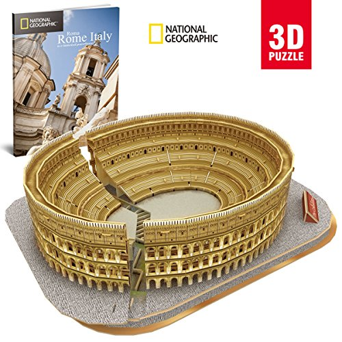 Cubic fun- Puzzle 3d City Traveller del Colosseo Romano, National Geographic (CPA...
