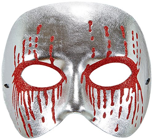 Widmann-Maske Psycho mit blutenden Augen unisex-adult, silber, One Size, vd-wdm03642