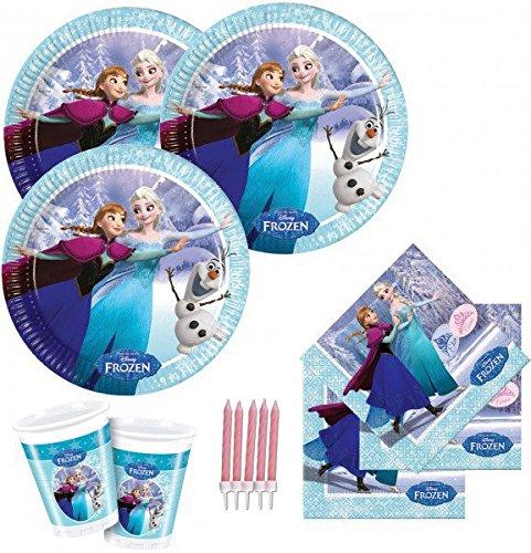 46 Teile Eiskönigin Party Deko Set für 8 Kinder