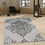 Paco Home In- & Outdoor Teppich Vintage Design Ornamente Paisley Muster Elegant In Grau