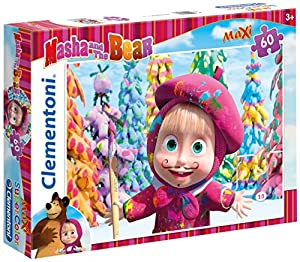 Clementoni - Puzzle Maxi, Masha and The Bear, 60 Piezas (267477)