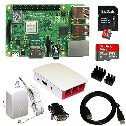 Raspberry Pi 3 Model B+ Bundle XXL 32GB (weiß) (Raspberry B Pi Model Bundle)