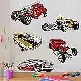 Bilderwelten Wandtattoo Hot Wheels Muscle Cars II, Sticker Wandtattoo Wandsticker Wandbild, Größe: 80cm x 80cm