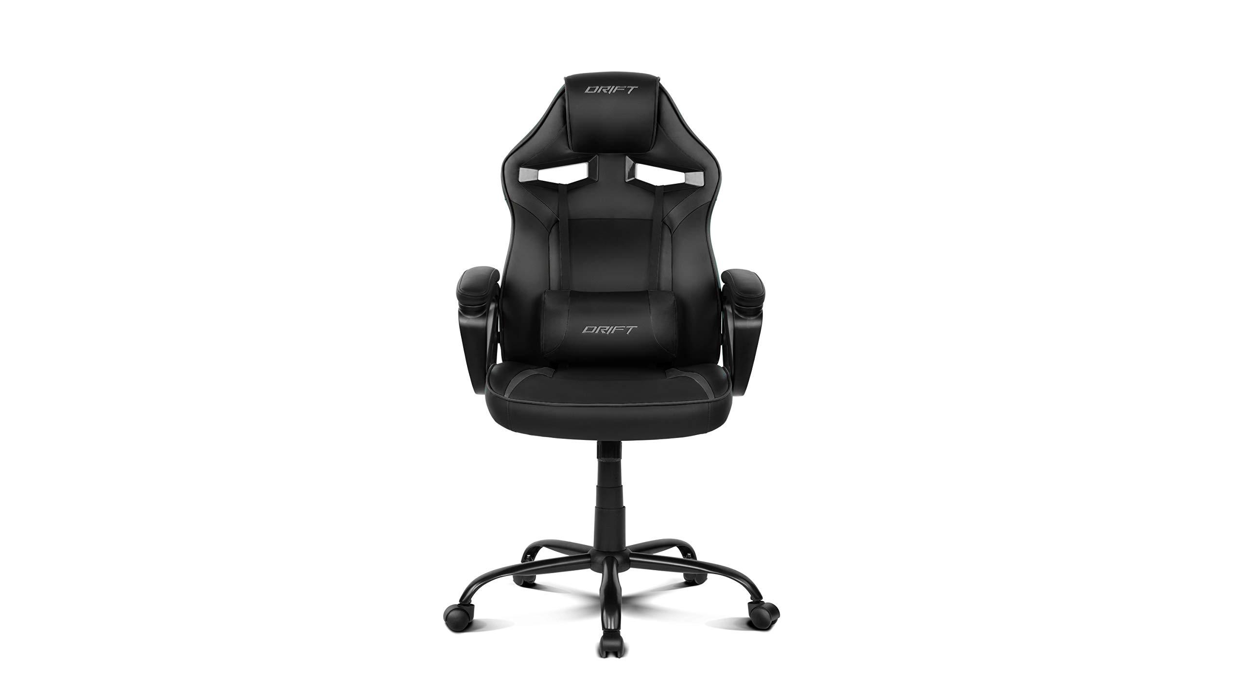 Drift DR50B – Silla Gaming Profesional, (Polipiel Alta Calidad, Ergonómica), Color Negro