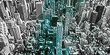 Artland Wandbilder selbstklebend aus Vliesstoff oder Vinyl-Folie Luciano Mortula Luftbild von Manhattan, New York City. USA. - mit Petrol Städte Amerika Newyork Fotografie Blau A7QK