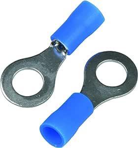Cartrend 10502 20 Stück Kabelschuh Ring M6 Blau Für Kabel 1 5 2 5mm Auto