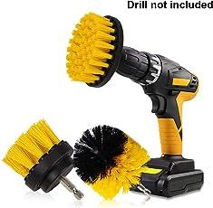 Kingsea 3pcs bohrmaschine bürstenaufsatz - 2inch,3inch,4inch Power Scrubbing auto Bürste für Auto, Teppich, Badezimmer, Holzboden, Waschküche exc