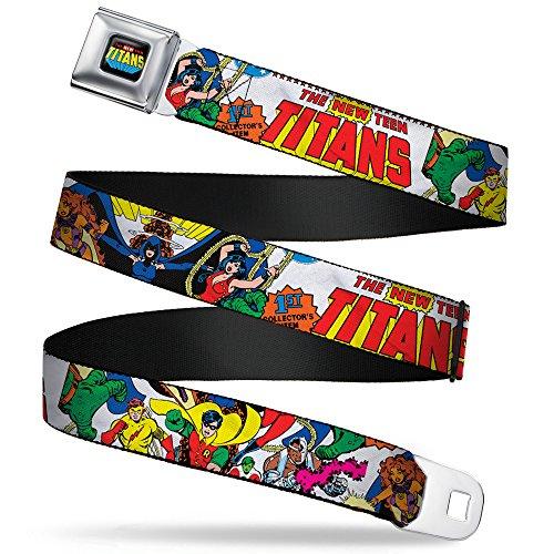 Buckle Down Men's Seatbelt XL Belt, the New Teen Titans, Extra Wide