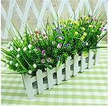 Interesting®Kleine grüne künstlichen Pflanzen Gras Gefälschte Blumenplastik Silk Eucalyptus Flowers für Büro Hotel Hochzeit Tischdekoration