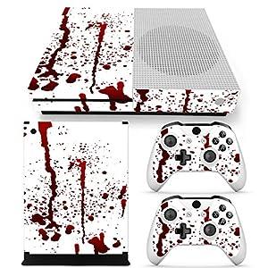 Microsoft XBOX ONE S Skin Design Foils Aufkleber Schutzfolie Set – Blood Motiv