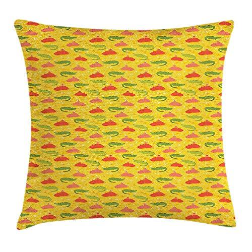 Bikofhd Kopfkissenbezüge House Sweet Door Cartoon Family Party Decorative Pillow Case Home Decor Square 18x18 inches Pillowcase