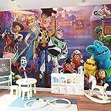 YWGBH Papier Peint Peintures Murales Auto-Adhésives Mur De Photos 3D (W) 300X (H) 210Cm Personnages De Jouets Anime Papier Peint De La Chambre Des Enfants Mur Mural 3D Art Garçon Fille Mur De