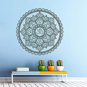 Wandtattoo ornament indian mandala marokkanisches muster geometrische om namaste yoga lotus - Geometrische wandbilder ...
