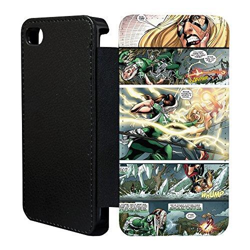 Accessories4Life DC Marvel-Superhelden Comicbuch Flip Tasche Geldbörse für Apple iPhone 5C no.8 - Schurken und Black Widow - G833