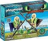 Playmobil 70042Dragons Raff Nogal y Taff Nogal con Traje de Vuelo