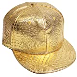 Belsen Damen Winter Vintage Serpentin Baseball Cap Leder Trucker Hat (golden)