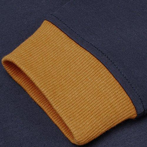 ZEARO Herren Poloshirts langarm Polohemd langarmshirt Freizeit T-Shirt Top M/L/XL/XXL Marine-Blau