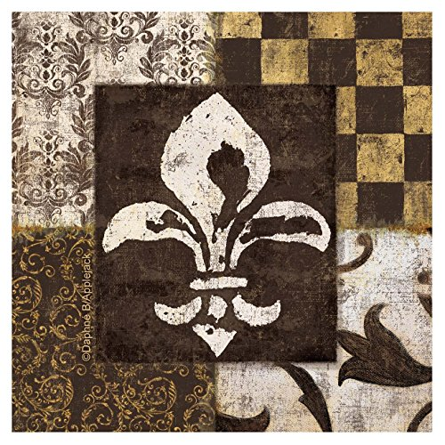 Thirstystone 4-Piece Fleur de Lis Coaster Set by Thirstystone - Coaster Lis Fleur Set De