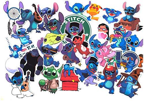 SetProducts ⭐Top Aufkleber! ⭐ Set von 50 Aufkleber Lilo Und Stitch - Premium Qualität - Vinyls Stickers Nicht Vulgär Lilo & Stitch - Stil, Bombe, Graffiti - Anpassung Laptop, Gepäck, Moto, Skateboard