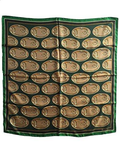 Foulard 100% seta BRACCIALINI 90x90cm Made in Itlay (verde)