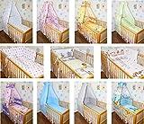 6 tlg Baby Bettset Bettwäsche Nestchen Himmel Himmelstange (B02)