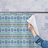 AZ Hand Drawn Design Washable Waterproof Shower Curtain 54 x 84inch; SET OF 2 PCS