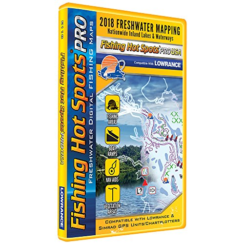 Fishing Hot Spots PRO FW - 2018 Digital Map & Fishing Chip f/Lowrance & Simrad Units - Freshwater (Lowrance-fishing-maps)