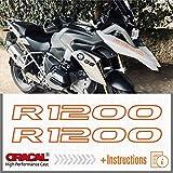 2pcs R1200 Motorrad 2013 - 2017 LC R 1200 GS ADESIVI PEGATINA STICKERS AUTOCOLLANT AUFKLEBER VINIL Motorcycle r1200gs (Orange)