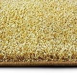 casa pura Shaggy Teppich Bali | Weicher Hochflor Teppich für Wohnzimmer, Schlafzimmer und Kinderzimmer | mit GUT-Siegel | Verschiedene Größen | viele Moderne Farben (140 x 200 cm, gelb)
