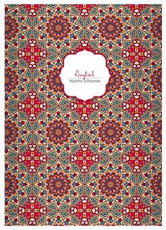 32 cahiers ethnologiques, personnalisés avec des étoiles en style Boho , rouge, A4 (29,7 x 21; 32p) cahiers de maths, linéatur 29 (carreaux 5x9mm; avec bord des deux côtés) | Magasiner