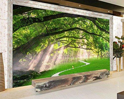 Tv Landschaft Fotografie Hintergrund Tapete Grün Grünes Gras Sofa Große Wandbild Tapete 3D Tapete Hintergrundbild Fresko Wandmalerei Wallpaper Mural 300cmX250cm ()