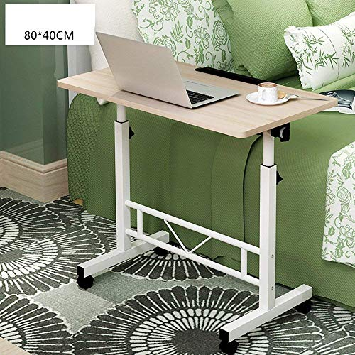 SED Kleine Tabelle-Klapptisch-hohe Qualität Mobile Laptop-Stand-Schreibtisch-justierbare Höhe 65-90Cm 4 Rollen sparen Raum-Schlafsaal-Studenten-einfaches faules Bett-einfaches Haus,4 - Höhe Klapptisch