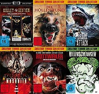 8 Tierhorror Kultfilme Collection PANIK IN DER SIERRA NOVA - DAY OF THE ANIMALS + GRIZZLY + DOGS + DER HÖLLENHUND + SHARK ATTAC