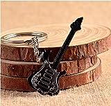Unbekannt Gitarre Rock E Gitarre Musik Bass Schlüsselanhänger Schwarz Silber
