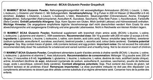 Mammut BCAA Glutamin Powder, Grapefruit, 1er Pack (1 x 450 g) - 3