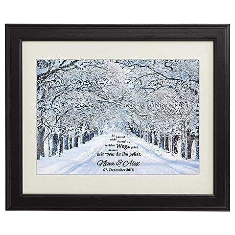 Gemeinsamer Weg – Winter – Personalisiert mit Namen und Datum