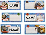 Unbekannt 6 Stk. Sticker für Hefte Heftetiketten Thomas and Friends - Etiketten Aufkleber / Namenssticker - Namensschilder