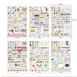 Pack di Sticker in Vinile PVC adesivi per taccuino NOTEBOOK Calendario 4368b